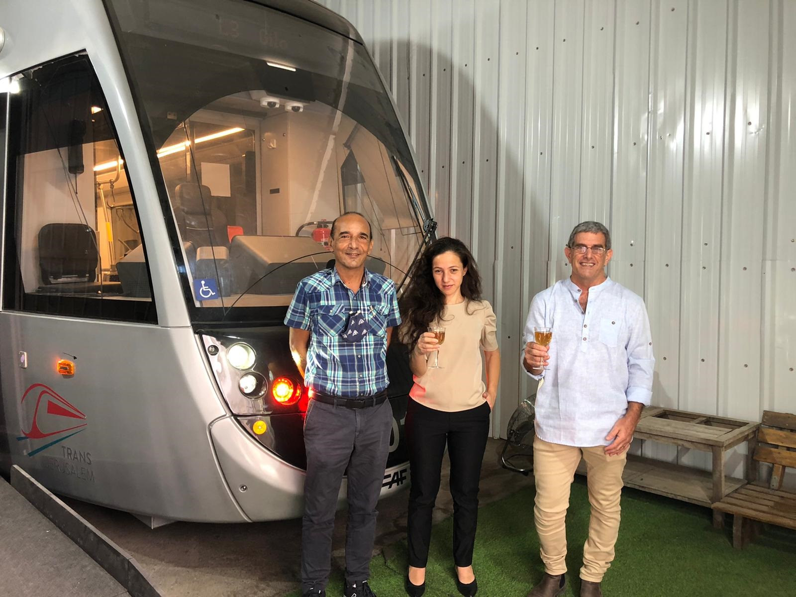 Step-Hear visit to the demo tram car of CAF